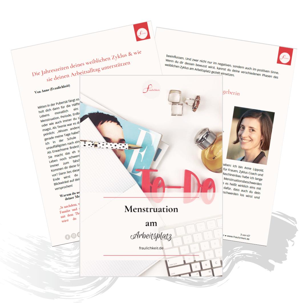 Fraulichkeit kostenloses Ebook Menstruation am Arbeitsplatz Blogparade mit Anne Lippold